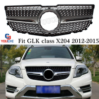 X204 Diamonds Grille Front Bumper Grill Mesh For Mercedes GLK Class 2012 2015 GLK200 GLK220 GLK250 GLK350 5 Door SUV