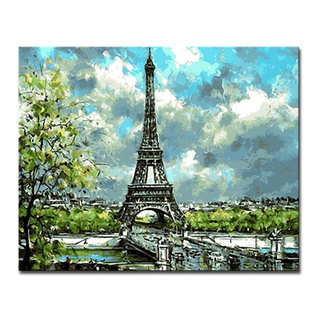 Diy Painting By Numbers Acrylic Oil Paint Coloring Frame Poster Wall