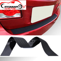 Car Styling Car SUV Rear Trunk Sill Plate Bumper Guard Protector Rubber Pad Cover Tail Trunk