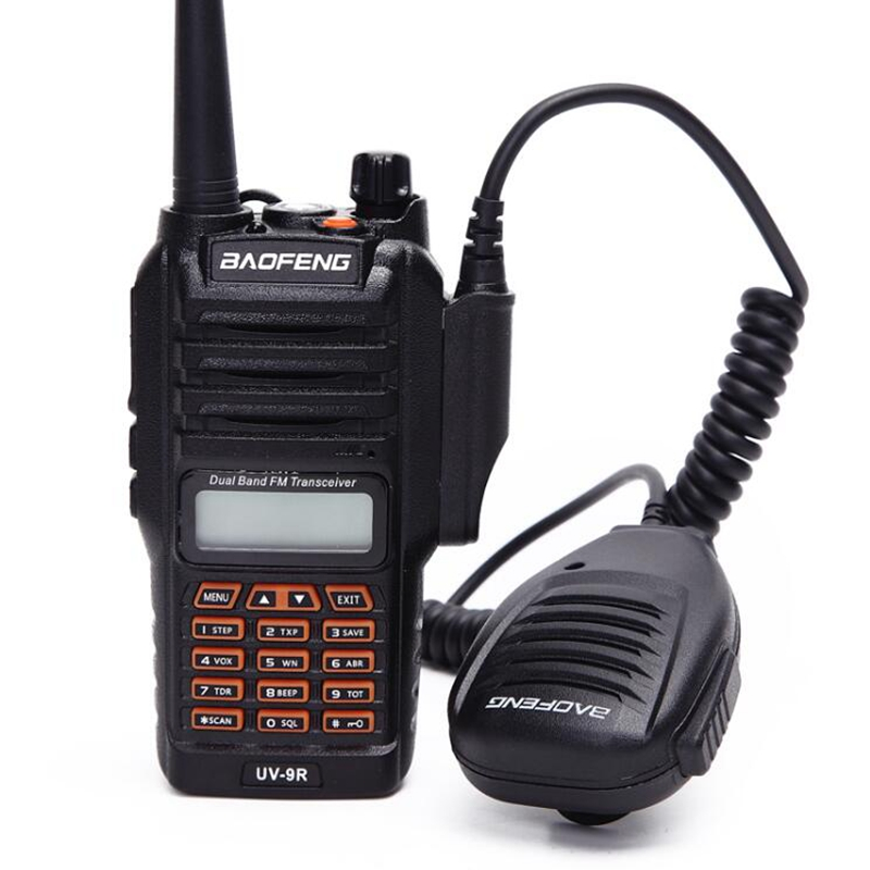 UV9R walkie talkie Baofeng 8W powerful dual band 2800mAh battery IP67 Waterproof CB Two Way Radio UV 9R+usb cable two way radio-in Walkie Talkie from Cellphones & Telecommunications