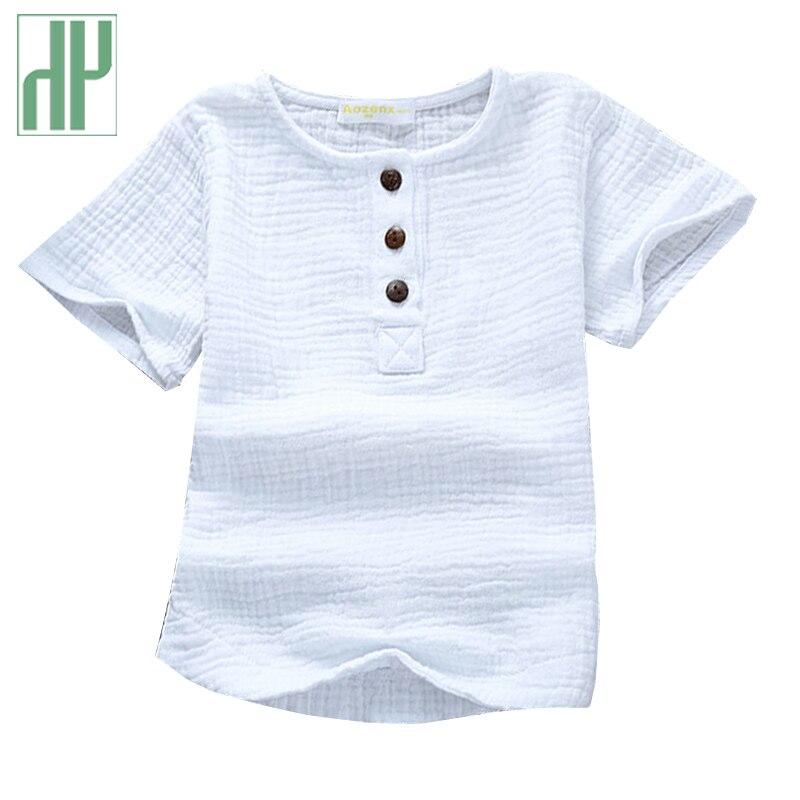 Baby Boy Tshirt For Children Clothing Linen Cotton Pink