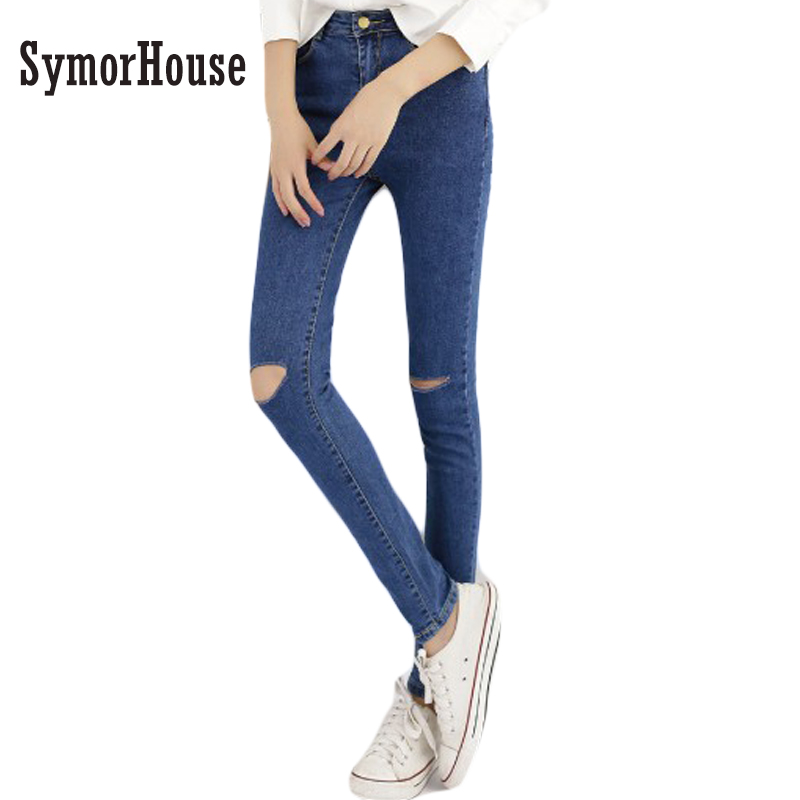 Hot Sale Vintage Hole Ripped denim Jeans Woman Plus Size Elasticity High Waist Skinny Jeans Women Pencil Pants Jeans Femme Mujer europe hot sale slim ripped women jean high waisted jeans cotton blue skinny jeans woman denim pants plus size