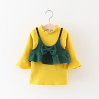 Everweekend Kids Girls Solid Velvet Dress With A Halter Shirt Sweet Children Autumn Winter Dress Western