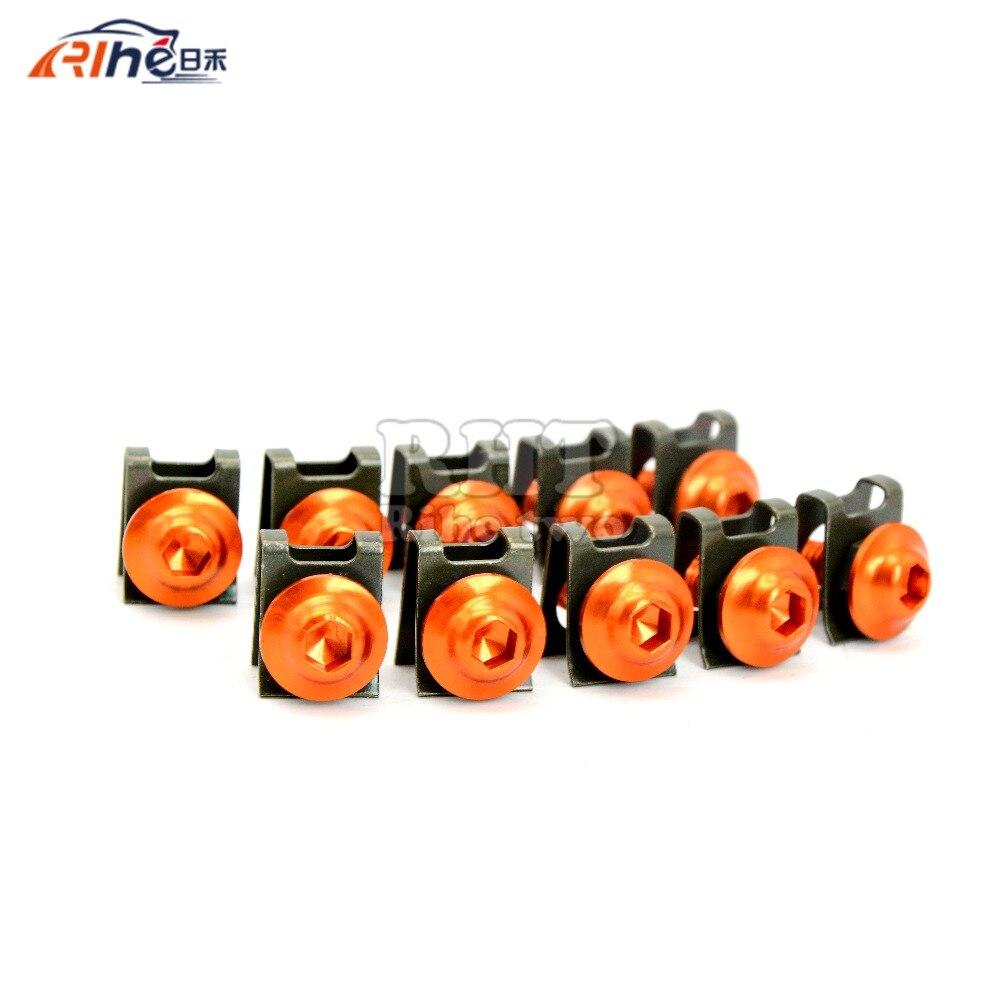 Schraubensatz Verkleidung Orange KTM 1290 Super Duke