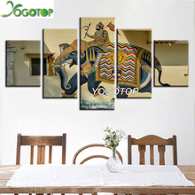 YOGOTOP DIY Diamond Painting Cross Stitch Kit Full Embroidery 5D Mosaic Home decor India elephan 5pcs ML435