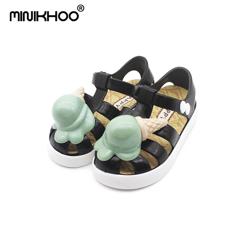 Mini Melissa 2018 New Children Jelly Sandals Ice Cream Mini Melissa - Zapatos de niños
