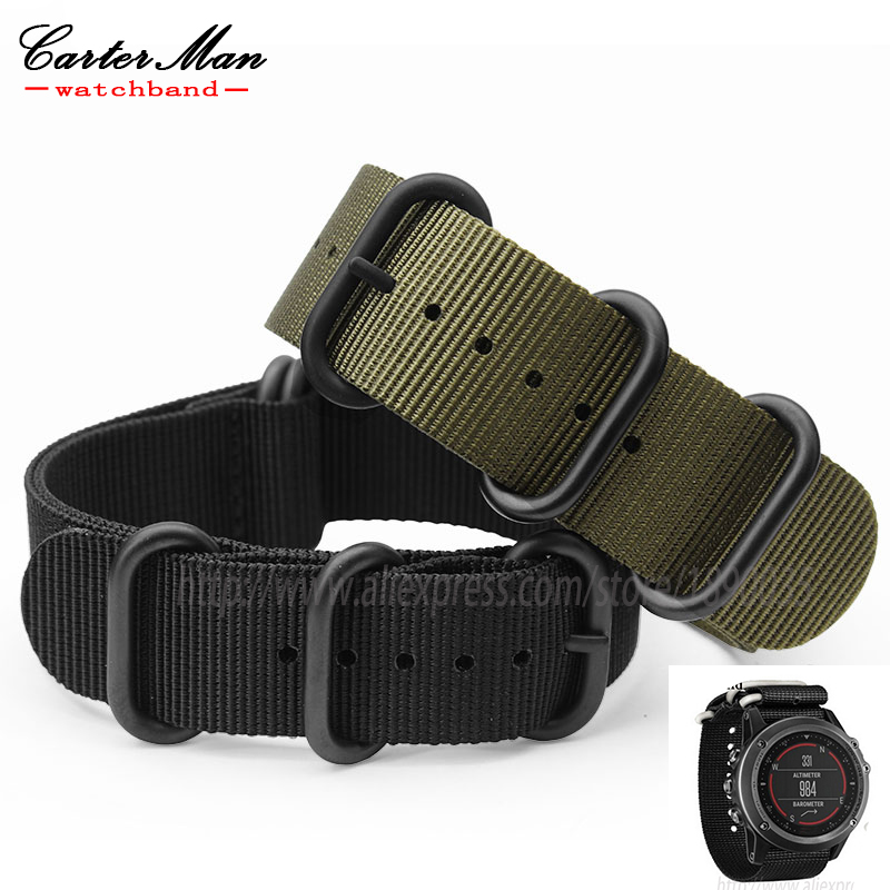 Hot sale Garmin Fenix 3 Nylon Watchband 26mm Luxury Nylon Watch Replacement Band For GarminBlack  Army Green Blue +2pcs tools