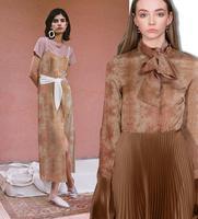 Wholesale Pink Abstract Silk Fabrics Dresses Shirt Tweed Scrapbooking Cheap Print Satin Lace Fabric Costura Scrapbooking