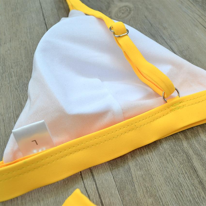 Bikinx Rippen Knoten Micro Badeanzug Push-up Extreme Bikini 2019 Gelb Sexy Bademode Frauen Badeanzug Sommer Strand Tragen Schwimmen Ohne RüCkgabe Sport & Unterhaltung