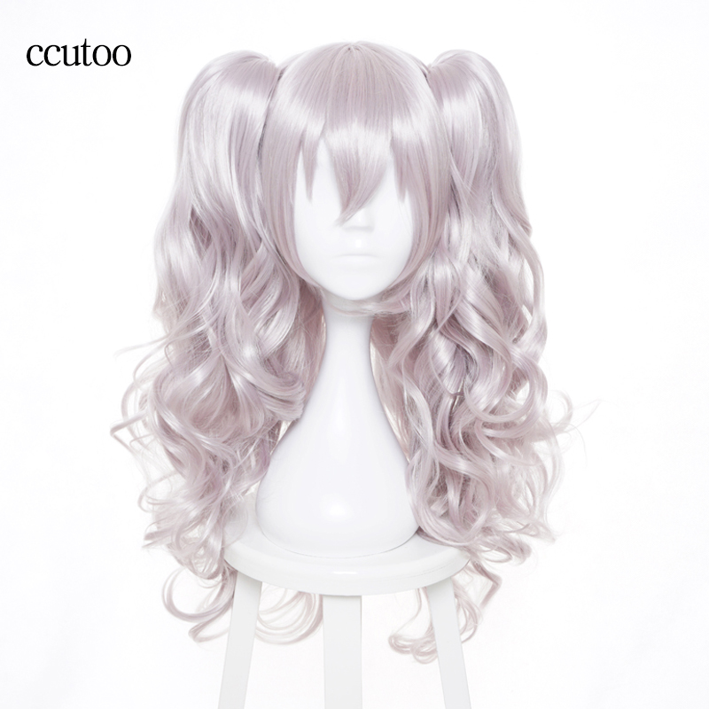 Intellective Ccutoo 65cm Charlotte Nao Tomori Grey Wavy Long Synthetic High Temperature Fiber Hairstyles Cosplay Costume Wig Cheap Sales Synthetic Wigs