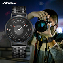 цена Sinobi Top Luxury Brand Men Leather Strap Sports Watches Men's Quartz Clock Man Waterproof Wrist Hiking Watch Relogio Masculino онлайн в 2017 году