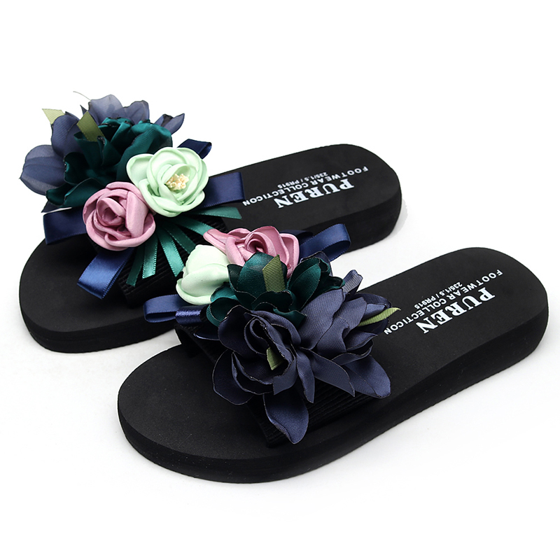 WENYUJH Summer Fashion Women Slipper Flower Anti-Slip Wedge Sandals Indoor Outdoor Thong Platform Slippers Flip-flops Plus SizeWENYUJH Summer Fashion Women Slipper Flower Anti-Slip Wedge Sandals Indoor Outdoor Thong Platform Slippers Flip-flops Plus Size