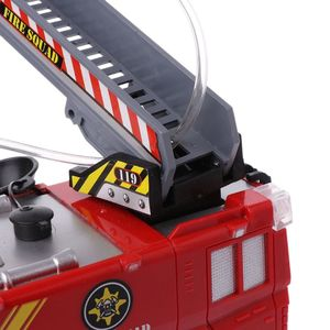 Image 4 - Spray Water Truck Toy Fireman Fire Truck Car Music Light Educational Toys Boy Kids Toy Gift