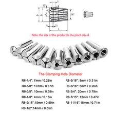 11 шт. круглый метрический R8 цанга Высокая точность зажима 65MN сталь для ЧПУ гравировальный станок фрезерный токарный станок инструмент