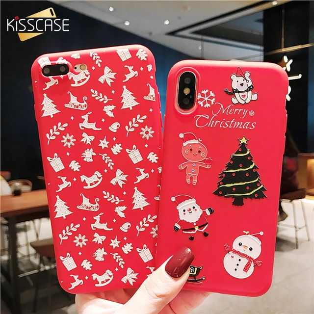 Christmas Phone Case Iphone 7.Us 1 69 40 Off Kisscase Christmas Phone Case For Iphone 7 8 Plus X Xs Xr Xs Max Cute Silicone Soft Tpu Shell For Iphone 5 5s Se 6 6s Plus Cover In