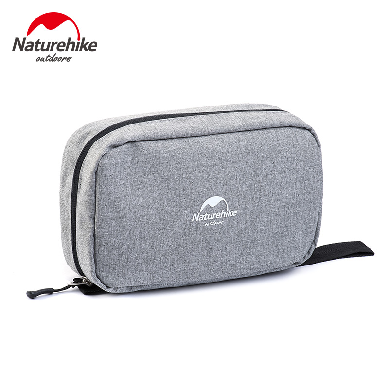 NatureHike Wash Bag Travel Cosmetic Bag Men Bags Large  Women Make Up Set Waterproof Wash Bag Grey Black Purple Navy Blue