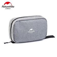 NatureHike Wash Bag Travel Cosmetic Bag Men Bags Large Women Make Up Set Waterproof Wash Bag Grey Black Purple Navy Blue