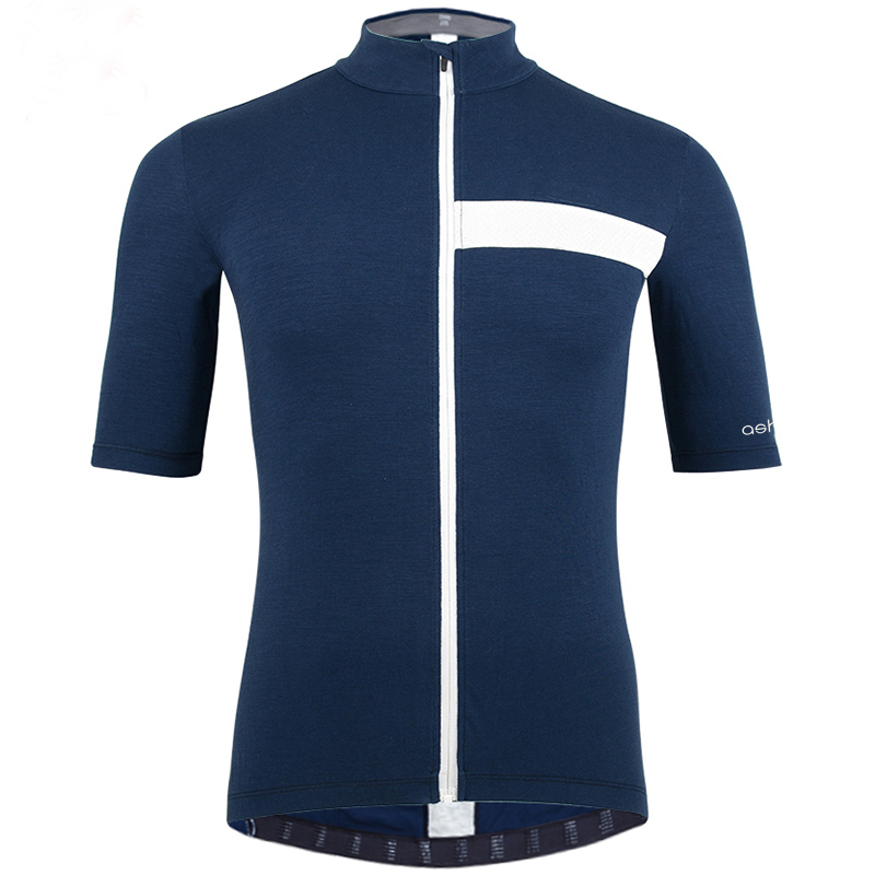 Maillot Bicycle Clothing Men's Summer 2018 Sports Leisure Travel Running Cycling Short Sleeve Jersey Italy MERINO+CARBON Fabric