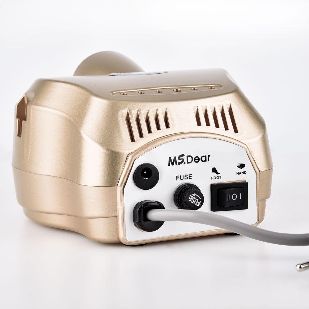 35000 RPM Aparato de máquina profesional para manicura pedicura Kit de Lima eléctrica con cortador de broca de herramienta de pulidor de arte - 3