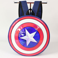 383fb98b59 2018 Polyester Unisex Air Cushion Belt Canvas Time Limited Promotion School  Bag Captain America Shield Backpack
