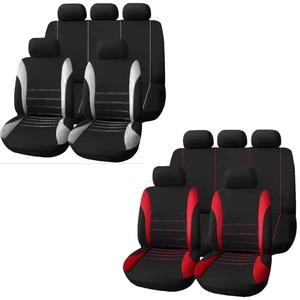 Image 5 - 9 mảnh thiết lập của thương mại nước ngoài bốn mùa phổ seat cover cushion xe lông chỗ ngồi bao gồm bộ universa phụ nữ đệm ghế màu đỏ