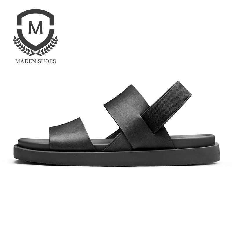 Maden 2018 Summer New Mens sandals Breathable Genuine Leather Fashion Casual Shoes Top Quality Rome Style Beach Shoes