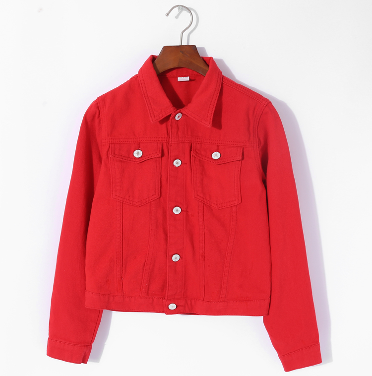 Jeans Jacket and Coats for Women 19 Autumn Candy Color Casual Short Denim Jacket Chaqueta Mujer Casaco Jaqueta Feminina 10