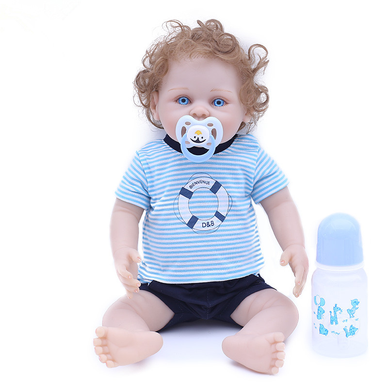 все цены на Bebe Reborn Baby Doll Icy Doll Lifelike Full Body Silicone Vinyl Reborn Boy Doll Alive Toys for Children Juguetes Brinquedos онлайн