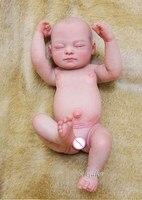 Sudoll около 20 ручной работы рисованной волосы реалистичные Новорожденный ребенок Кукла Reborn полный Мягкие силиконовые виниловые куклы Лидер
