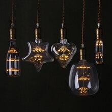 T30 LED 에디슨 빈티지 별이 빛나는 하늘 램프 심장 병 레트로 Led 불꽃 Dimmable 전구 홈 크리스마스 장식 클럽 조명