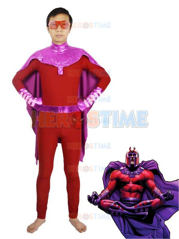 Spandex X-men Magneto Superhero Costume the most popular halloween zentai suit X-men show costume