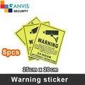 5 шт. Self-stick безопасности предупреждающие наклейки, английский язык, cctv IP камеры наблюдения проект mate. CCTV GANVIS Магазине