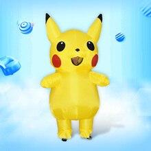 11 Inflatable Pikachu Costume Women Men Boys Girls Kids Adult Pokemon Halloween Party
