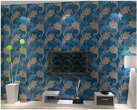 beibehang papel de parede Simple Nonwovens 3d Wallpaper Peacock Hair Modern Bedroom Study Living Room TV Background Wallpaper