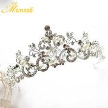 Gorgeous Rhinestone Bride Crowns Tiaras European Princess Tiara Queen Crown Wedding Veil Headpiece Diadem Head Jewelry HG297