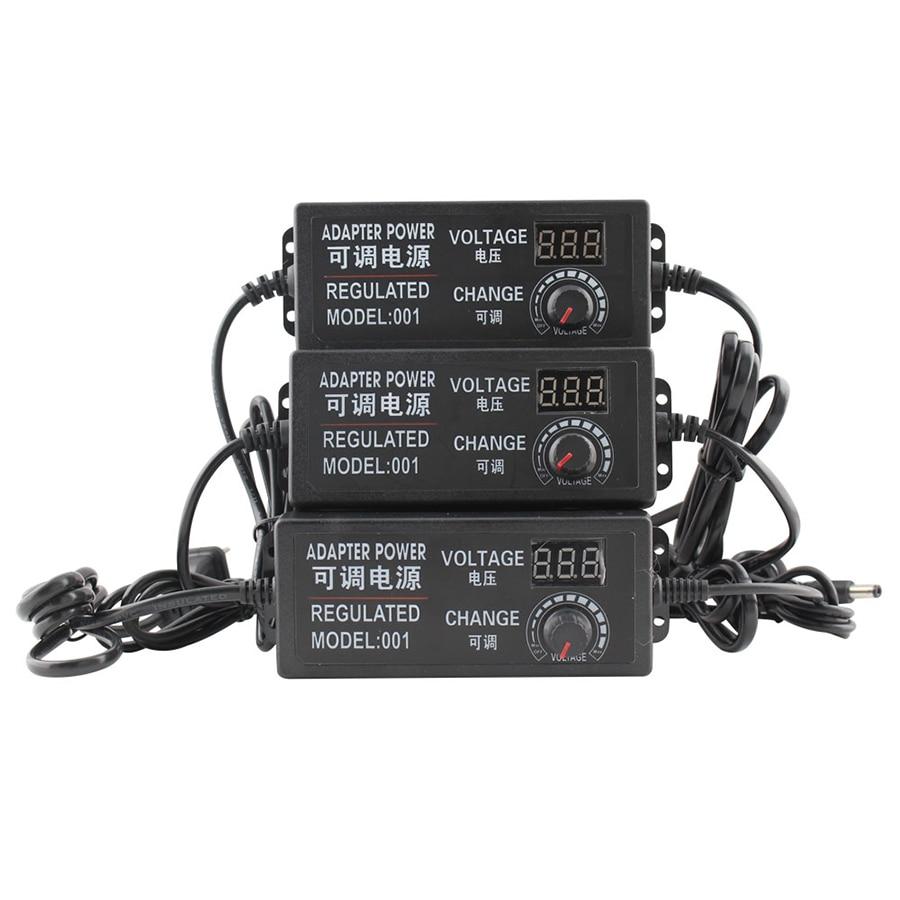 AC DC 110V 240V DC 3V 9V 12V 24V Universal Power Adapter Supply Adjustable Charger Display Screen Power Switching For LED Strip-in Lighting Transformers from Lights & Lighting
