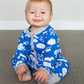 Newborn infantil pajamas  Baby Boys long sleeve zipper Cotton Rompers Jumpsuit Outfits baby boutique clothing