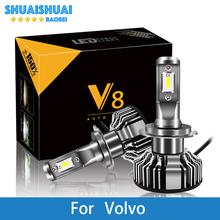 2 предмета фар автомобиля для Volvo S60 S80 V40 V70 S40 XC70 XC90 H7 светодиодный H4 светодиодный H1 H7 H3 9005 6500 K 8000LM CSP чипы Туман лампа