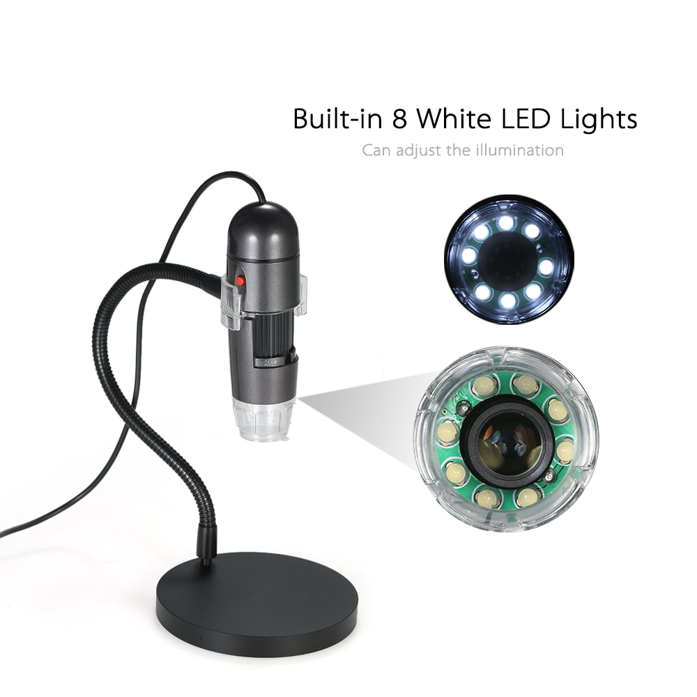 Portable Digital Microscope 8LED Digital Zoom Magnifier with Holder 25X-600X Magnification 4-50cm Focus AC110-220VPortable Digital Microscope 8LED Digital Zoom Magnifier with Holder 25X-600X Magnification 4-50cm Focus AC110-220V