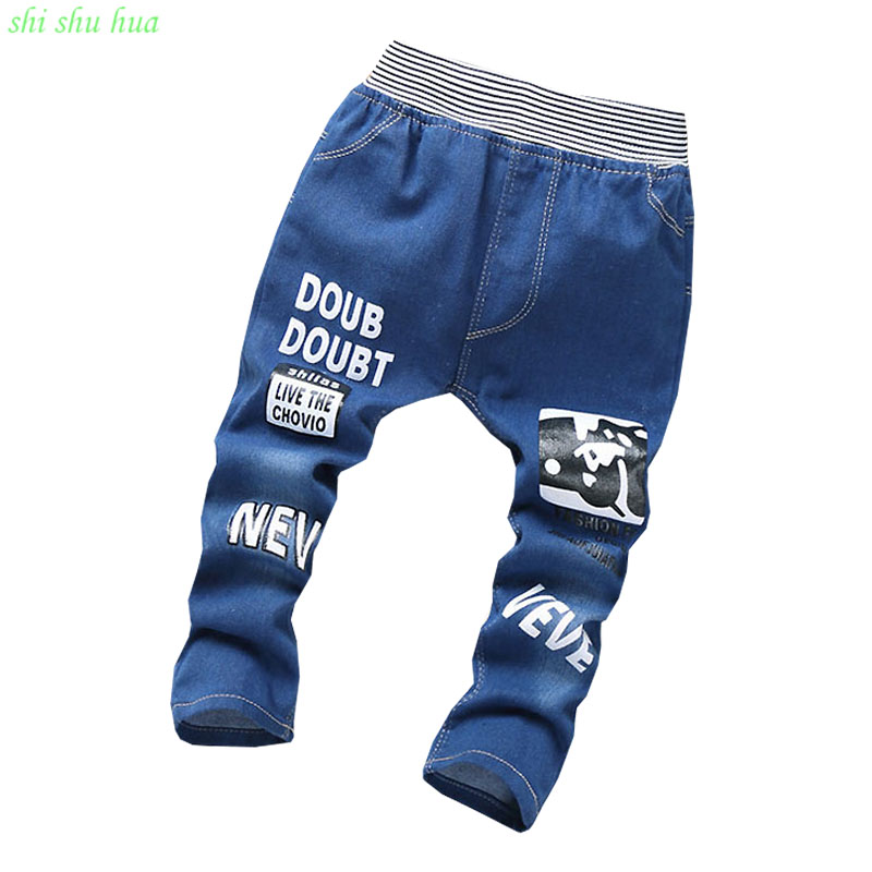 baby boy clothes pants girls jeans summer fashion quality clothing cartoon printing wear casual pants 5-10 year  Children's wear(China)