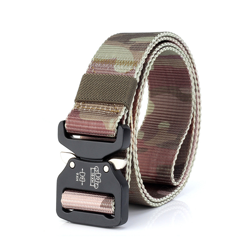 7 Colors Military Canvas   Belt   Outdoor Tactical   Belt   Men High Quality Metal Buckle   Belts   for Jeans Male Casual Straps Hunting