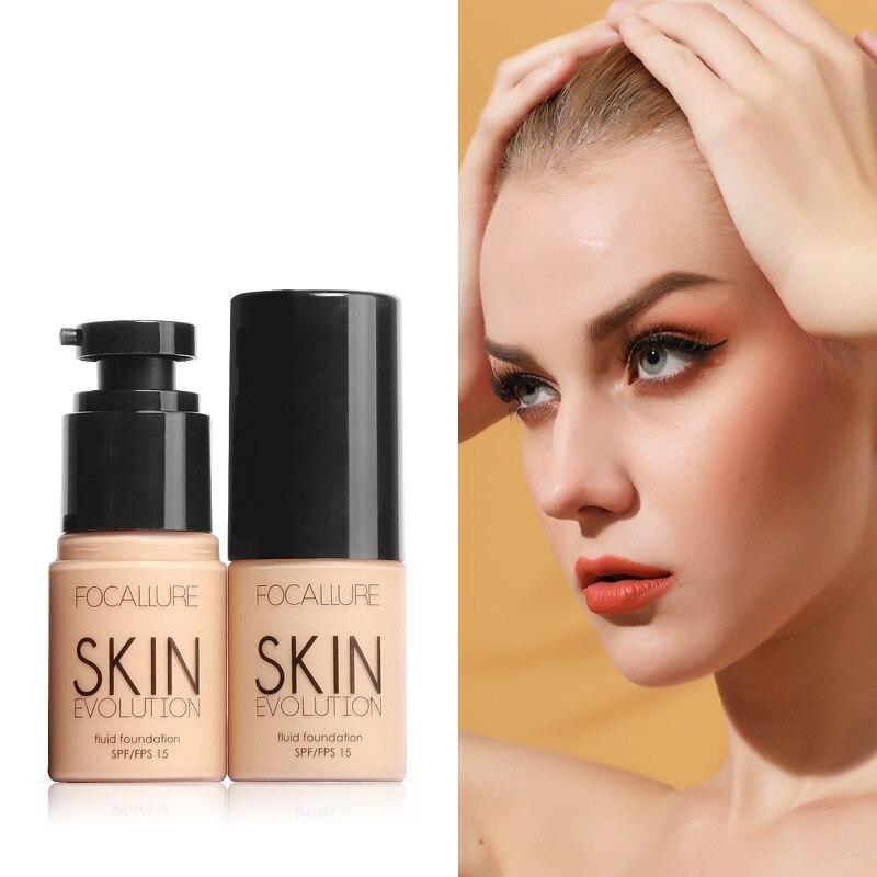 FOCALLURE Face Foundation Makeup Base Liquid Foundation BB Cream Concealer Whitening Moisturizer Oil-control Maquiagem SPF15
