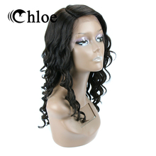Chloe 100% Human Hair Wigs Brazilian Remy Hair Loose Wave Lace Frontal Wigs Density 130% Free Shipping