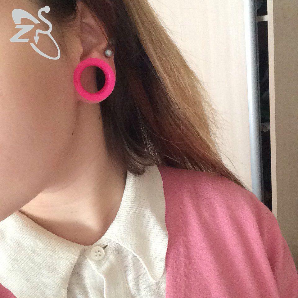 3-25mm silikon fleksibel telinga plag dan terowong double terapung - Perhiasan fesyen - Foto 3