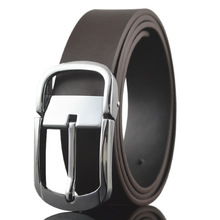 Mens 100% Genuine Leather Belt Anti Scratch Metal Pin Buckle for Suit Jeans Christmas Halloween Gift
