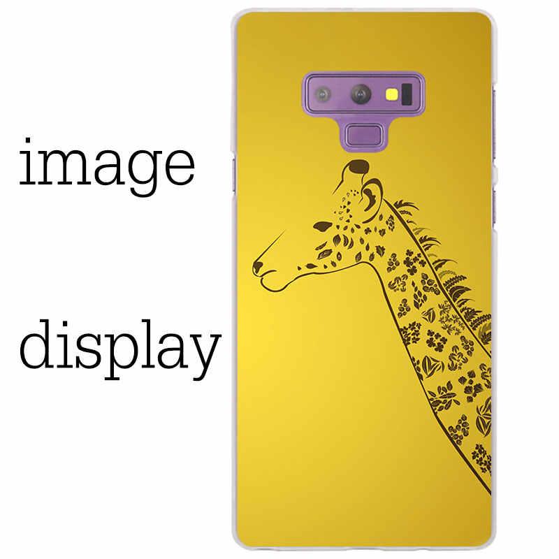 Жираф прозрачный чехол для samsung Galaxy Note 9 8 5 4 A6 A7 A8 A9 J3 J4 J6 J7 J8 2018 S10 lite плюс крышка