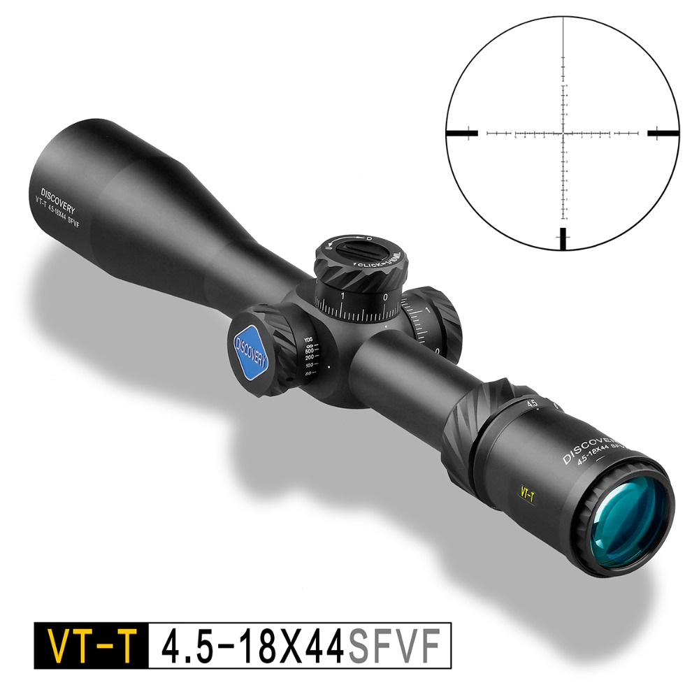 DESCOBERTA VT-T 4.5-18X44 SFVF FFP Caça Riflescope Com Rangefinder Reticl Especial Telefone Monte Para airsoft ar armas