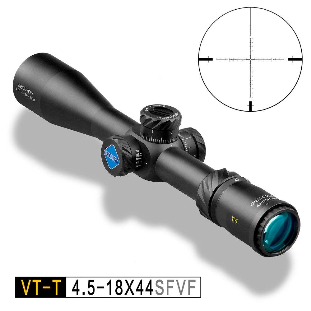 Descubrimiento de caza Riflescope VT-T 4,5-18X44 X SFVF FFP con telémetro Reticl especial de montaje de teléfono para airsoft de aire las armas