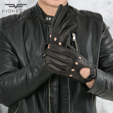 Fioretto Mens Deer Leather Driving Gloves for Man Fitness Unlined Genuine Leathe