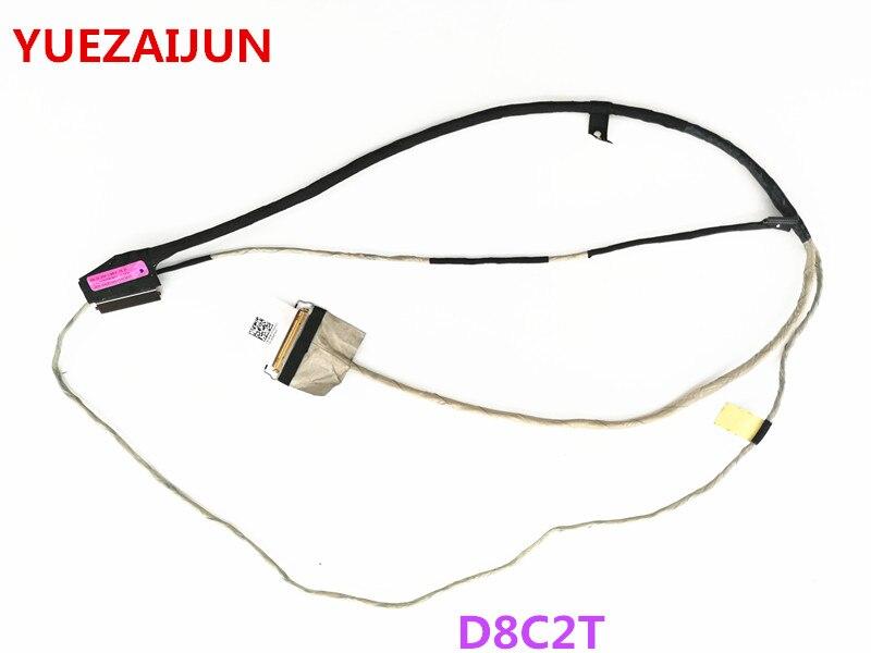 Novo para Dell Inspiron15 5565 5567 series LCD cabo de vídeo D8C2T DC02002GZ00 40pin